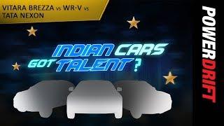 Download Tata Nexon vs Suzuki Brezza vs Honda WRV : Indian Cars Got Talent : PowerDrift Video