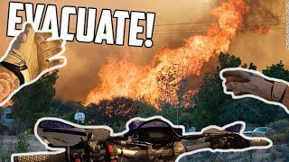 Download RIDING IN THE MIDDLE OF A MASSIVE CALIFORNIA FIRE! Video