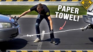 Download Pulling A CAR with a Paper Towel Rope Video