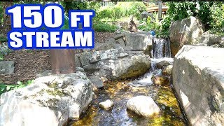Download EPIC 150-FOOT STREAM AND WATERFALL: Greg Wittstock, The Pond Guy Video