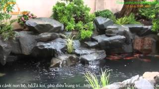 Download Sân vườn hồ cá koi ngoài trời đẹp Video