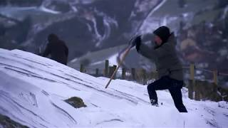 Download Storm Emma: farmers raking through snow to rescue livestock Video