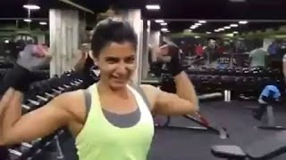 Download Samantha 100 Kgs Weight Lift | Gym Workouts and Fitness Video