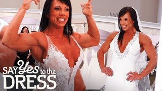 Download Bodybuilder Bride Wants a Dress That Will Show off Her Gains | Say Yes To The Dress Video