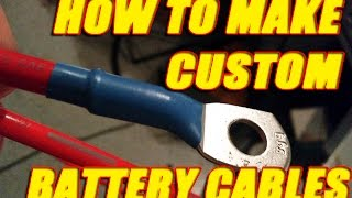 Download How to make custom length battery cables and wires Video