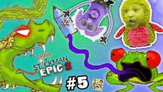 Download FROG & SNAKE vs. MINION & HATCHIMALS! Draw a Stickman EPIC 2 🚸 Chapter 5 & 6: Ice Crayon (FGTEEV) Video