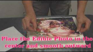 Download Setup Part 4 - Applying your PhotoFrost Edible Photo to a cake Video