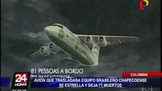 Download Imágenes previas a la tragedia de avión del Chapecoense Video