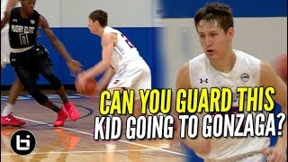 Download ″CAN YOU GUARD THIS WHITE KID GOING TO GONZAGA?″ Brock Ravet Vs RJ Hampton Ballislife Highlights! Video