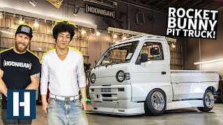 Download Rotary Pit Truck's ONE of ONE Rocket Bunny Kit Gets Installed, With a Special Guest! Video