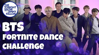 Download BTS and Jimmy Fallon Do the Fortnite Dance Challenge Video