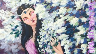 Download The Flower Elf Acrylic Painting on Canvas Fairy Tale part 1 Video