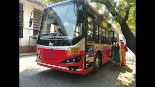 Download Mumbai's Electric Bus   Short Ride by the Sea in the Silent Bus!! Video