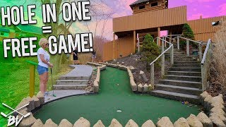 Download I HAVE NEVER SEEN THIS HAPPEN BEFORE PLAYING MINI GOLF! IMPOSSIBLE HOLE IN ONE! | Brooks Holt Video