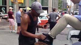 Download Shoe shine in New York - Don Ward best street shoe shine Video