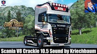 Download ✅ ETS2 1.30 - Scania V8 Crackle 10.5 Sound by Kriechbaum Video