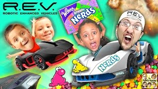 Download R.E.V. Cars Battle w/ NERDS CANDY All Over The Floor! (FGTEEV Mysterious Family Foggy Fun Mess!) Video