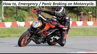 Download How to, Emergency / Panic Braking on Motorcycle. Video