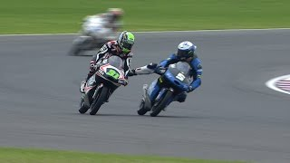 Download Fenati and Ajo clash in Moto3 warm-up Video