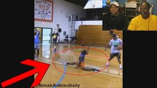 Download Dad Reacts to Craziest Ankle Breakers in Basketball & Football! Video