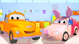 Download Tom The Tow Truck's Paint Shop : Tyler is Winnie the Pooh | Truck cartoons for kids 🐻 🚗 Video