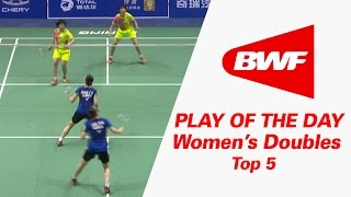 Download Women's Doubles - Top 5 | Play Of The Day | Badminton Video