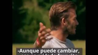 Download Beckham enseña a patear tiros libres Video