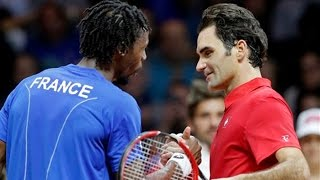 Download Roger Federer VS Gael Monfils Highlight (Davis Cup) 2014 F Video