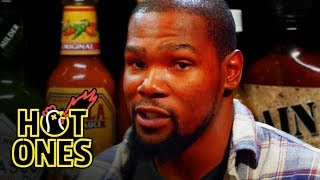 Download Kevin Durant Sweats It Out Over Spicy Wings | Hot Ones Video