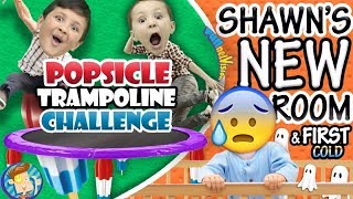 Download POPSICLE Trampoline Challenge / Shawn's New Bedroom + Baby's First Cold (๑◕︵◕๑) FUNnel Vision VLOG Video