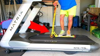 Download SCOOTER TRICKS ON TOP SPEED TREADMILL!!! Video