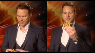 Download Chris Pratt Completes A Rubik's Cube In 3 Minutes...While Doing An Interview Video