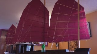 Download Chinese Junk Sails and the Mast Video