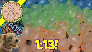 Download Bunch O Balloons Challenge, 100 Balloons In 60 Seconds! Video