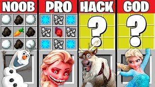 Download Minecraft Battle: FROZEN ELSA CRAFTING CHALLENGE ~ NOOB vs PRO vs HACKER vs GOD – ELSA EXE Animation Video