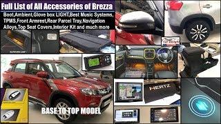 Download Brezza All Interior,Exterior Accessories with Price   Brezza Accessories Full List   Brezza Modified Video