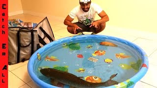 Download KEEPING MEGA FISH INDOORS with POOL POND! Video