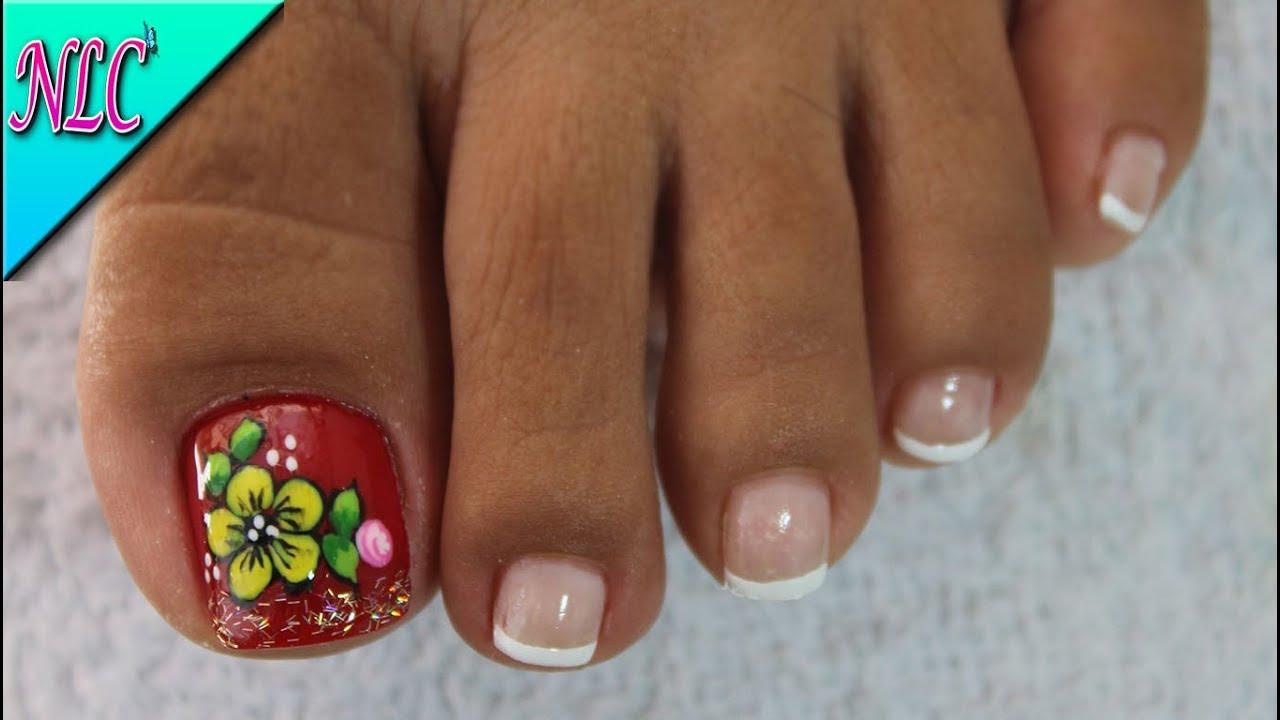 Stream decoraci n de u as para pies flores rosas for Decoracion unas en pies