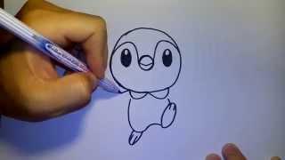 Download พจจามะ Piplup จาก การ์ตูน โปเกม่อน by วาดการ์ตูนกันเถอะ สอนวาดรูป การ์ตูน Video
