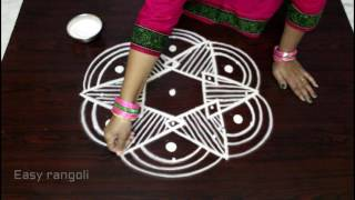 Download easy rangoli designs for Ugadi with 5x3 dots || Ugadi kolam designs || muggulu designs with dots Video