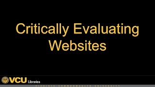Download Critically Evaluating Websites Video