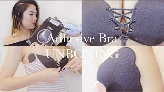 Download BRA101 PT 3: $13 Adhesive Push Up Bra? Does It Work? Supportive? Drawstring Feature! Video