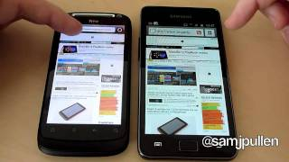 Download Samsung Galaxy S2 vs HTC Desire S - Browsers Video