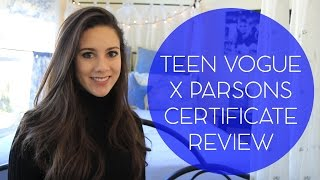 Download Teen Vogue x Parsons Certificate Program Review Video