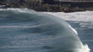 Download cartagena playa chica y sus olas dia con sol Video