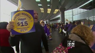 Download Some O'Hare Airport Workers On Strike Thursday Video