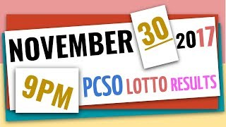 Download Lotto Results November 30, 2017 at 9:00 pm (Evening draw) ft. 6-49, 6-42, 6D, EZ2 & Swertres Video
