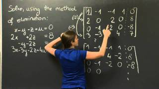 Download Elimination with Matrices | MIT 18.06SC Linear Algebra, Fall 2011 Video