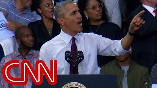 Download Obama calms supporters when Trump protester appears Video