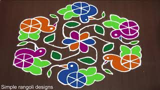 Download Rangoli Design: 15 to 8 Beautiful Rangoli Kolam for Bhogi [Sankranthi Muggulu] Video